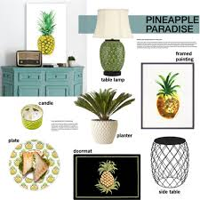pineapple inspired home decor polyvore