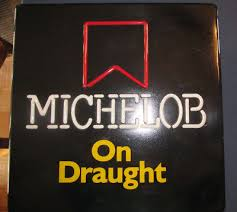 light up beer signs vintage michelob on draught light up beer sign 18 everbrite
