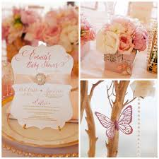gold and pink baby shower whimsical pink and gold baby shower pretty my party