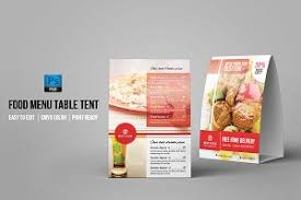 Table Tents Template Table Tent Photos Graphics Fonts Themes Templates Creative