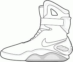 jordan shoe coloring pages throughout shoes omeletta me