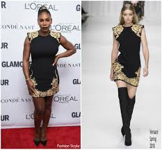 Fashion Sizzlers Archives Fashionsizzle by Serena Williams In Versace 2017 Glamour Women Of The Year Awards