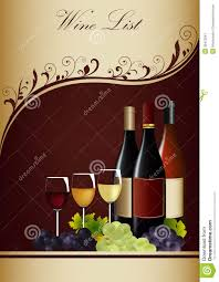 sle menu design templates wine menu template