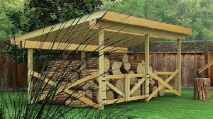 How To Build A Wood Floor With Pole Barn Construction by 10 Wood Shed Plans To Keep Firewood Dry The Self Sufficient Living