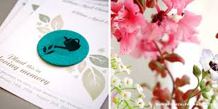 Memorial Service Favors Remembering Loved Ones Quotes U0026 Poems For Seed Paper Memorial