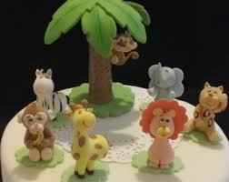 monkey tags and cake toppers monkey baby shower decoration