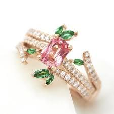 padparadscha sapphire engagement ring organic engagement rings hart