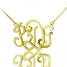 Monogram Initials Necklace Topshop Initial Necklace