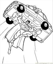 free superhero coloring pages intended to encourage to color an