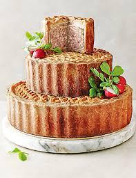 tiered celebration pork pie m u0026s