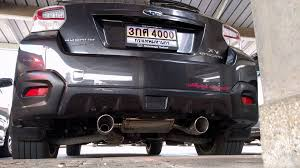 subaru crosstrek turbo subaru xv vs sti rear section exhaust st44300mf010 1 youtube