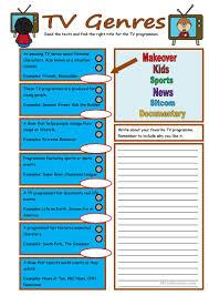 19 free esl genres worksheets