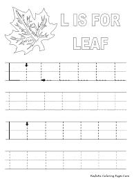alphabet tracer pages l leaf mfw kindergarten s m l pinterest