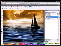 how to convert black white image to colour tutorial with corel