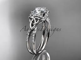 mariage celtique bague de mariage noeud trinité celtique platine diamant bague