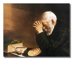 thanksgiving dinner blessing prayer amazon com daily bread man praying at dinner table grace