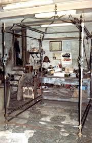 letto a baldacchino antico ditta brogani maurizio lavori in ferro battuto e restauri in