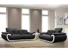 fauteuil et canapé canapé et fauteuil en cuir 4 coloris bicolores smiley