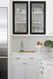 black and white kitchen cabinets white kitchen cabinets with black doors transitional kitchen