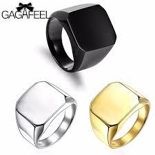 custom metal rings images Gagafeel square big rings for men stainless steel ring black jpg