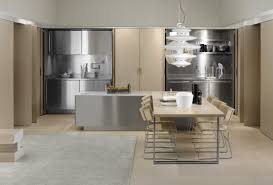 interior concrete walls stainless steel kitchen cabinets cost modern cabinet integrated