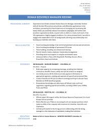 Hr Manager Resume Summary How To Write A Perfect Human Resources Resume Hr Specialist