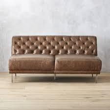 Leather Tufted Sectional Sofa Leather Sectional Sofas Cb2