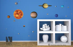 wall decal educational solar system decals solar system wall decals vinyl decal pack all planets sun moon and