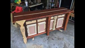 building a split top roubo style cabinet base mobile workbench
