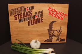 11x14x1 steaks on a flame cutting board father u0027s