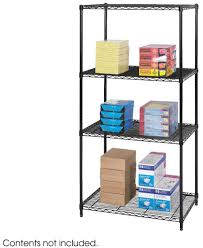 Wire Shelving Desk Wire Shelving And Accessories Organization By Safco