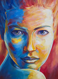 complementary colors portrait painting google search