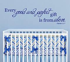 Scripture Wall Decals For Nursery And Gift From Above 1 17 Scripture