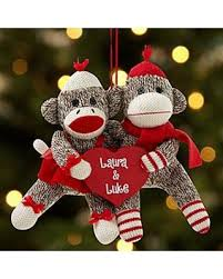 great deals on sock monkey ornament personalized