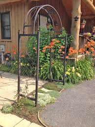 Arbors And Trellises Wrought Iron Skyview Arbor Flower Arch Trellis