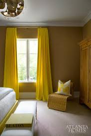 Yellow Brown Curtains Yellow Bedroom Curtains Contemporary Bedroom