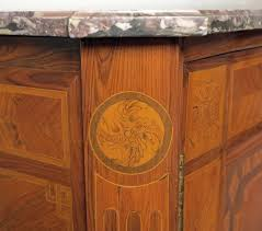 a fine louis xvi marquetry inlaid bronze mounted marble top