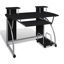 bureau informatique noir table de bureau pour ordinateur achat vente meuble