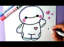 draw cute baymax big hero 6 easy drawing tutorial