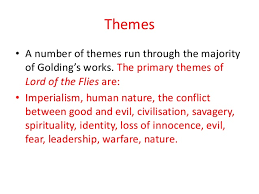 lord of the flies themes and messages lord of the flies by william golding overciew ppt
