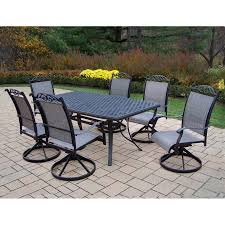 Outdoor Dining Patio Sets - shop oakland living cascade sling 7 piece dining patio dining set