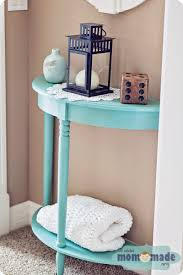 Blue Accent Table Mom Made Sewing Shop Blue Chalk Painted Accent Table