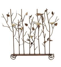 birds summer decorative fireplace screen 139 95 plow hearth