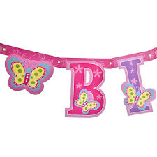 bulk happy birthday butterfly letter banners 7 ft at dollartree