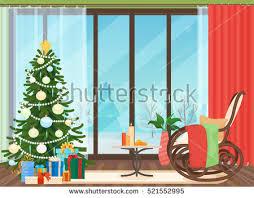 Christmas Livingroom by Christmas Tree In Room Stock Vectors Images U0026 Vector Art