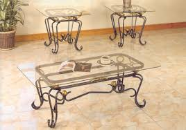 glass and rod iron coffee tables wrought iron glass coffee table