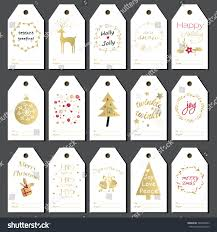 christmas gift tags stickers labels hand stock vector 340938965