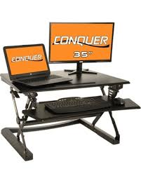 fall into this deal on desktop tabletop standing desk adjustable