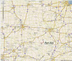 Map Missouri Canoe Eminence Missouri Cabins Motel Lodging Jacks Fork Current