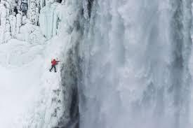 canadian ice climbers scale frozen niagara falls